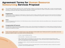 Agreement Terms For Human Resource Outsourcing Services Proposal Ppt Powerpoint Presentation Portfolio