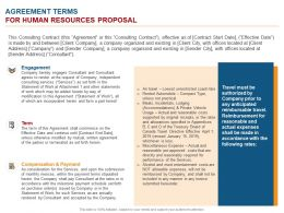 Agreement Terms For Human Resources Proposal Ppt Powerpoint Presentation Outline