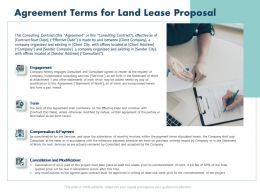 Agreement Terms For Land Lease Proposal Ppt Powerpoint Presentation Portrait
