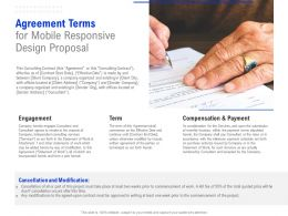 Agreement Terms For Mobile Responsive Design Proposal Ppt Powerpoint Presentation Slides