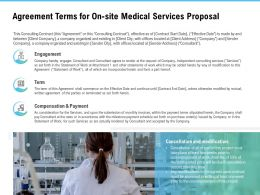 Agreement Terms For On Site Medical Services Proposal Ppt Powerpoint Tips