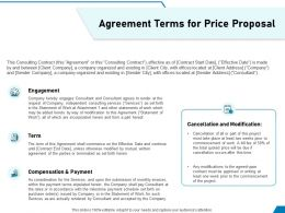 Agreement Terms For Price Proposal Ppt Powerpoint Presentation Summary Grid