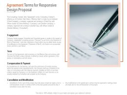 Agreement Terms For Responsive Design Proposal Ppt Powerpoint Images