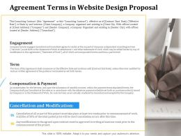 Agreement Terms In Website Design Proposal Ppt Powerpoint Presentation Infographic