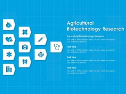 Agricultural Biotechnology Research Ppt Powerpoint Presentation Slides Download