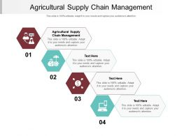 Agricultural Supply Chain Management Ppt Powerpoint Presentation Infographics Format Ideas Cpb
