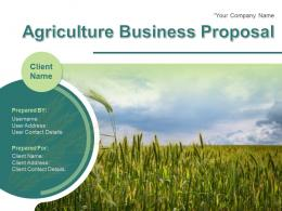 Agriculture Business Proposal Powerpoint Presentation Slides