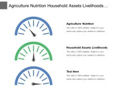 Agriculture Nutrition Household Assets Livelihoods Agricultural Livelihoods Food Production