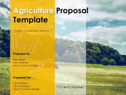 Agriculture Proposal Template Powerpoint Presentation Slides