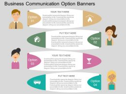 ah Business Communication Option Banners Flat Powerpoint Design