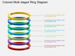 Ah Colored Multi Staged Ring Diagram Powerpoint Template