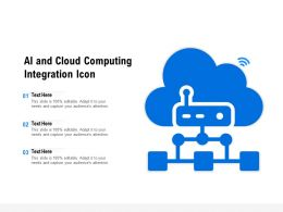 AI And Cloud Computing Integration Icon