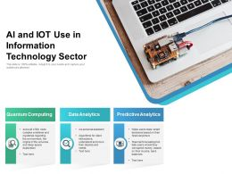 AI And IoT Use In Information Technology Sector