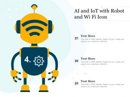 AI And IoT With Robot And Wi Fi Icon