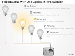 Ai Bulbs In Series With One Light Bulb For Leadership Powerpoint Template