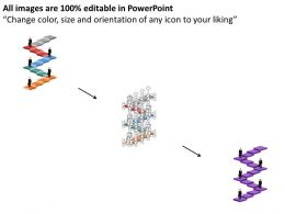 42079994 Style Layered Stairs 5 Piece Powerpoint Presentation Diagram Infographic Slide