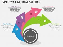 ai Circle With Four Arrows And Icons Flat Powerpoint Design