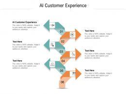 AI Customer Experience Ppt Powerpoint Presentation Portfolio Smartart Cpb