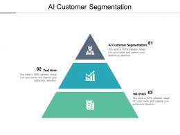 AI Customer Segmentation Ppt Powerpoint Presentation Professional Pictures Cpb