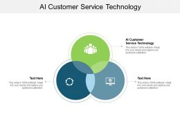 AI Customer Service Technology Ppt Powerpoint Presentation Icon Slides Cpb