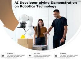 AI Developer Giving Demonstration On Robotics Technology