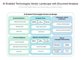 AI Enabled Technologies Vendor Landscape With Document Analysis