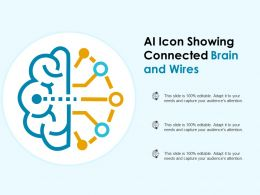 Ai Icon Showing Connected Brain And Wires