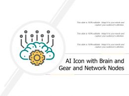 Ai Icon With Brain And Gear And Network Nodes