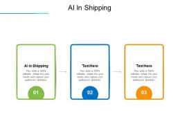 AI In Shipping Ppt Powerpoint Presentation Model Example Cpb