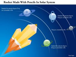 Ai Rocket Made With Pencils In Solar System Powerpoint Template