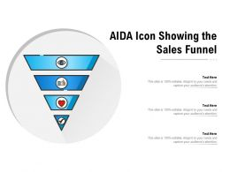 AIDA Icon Showing The Sales Funnel