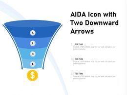 AIDA Icon With Two Downward Arrows