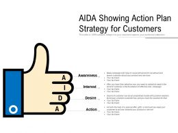 AIDA Showing Action Plan Strategy For Customers