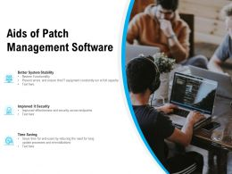 Aids Of Patch Management Software