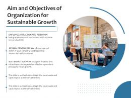 Aim And Objectives Of Organization For Sustainable Growth