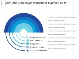 Aim And Objectives Worksheet Example Of Ppt