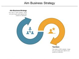 Aim Business Strategy Ppt Powerpoint Presentation Styles Graphic Tips Cpb