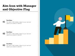 Aim Icon With Manager And Objective Flag