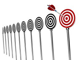 Aiming And Hitting Business Targets Stock Photo