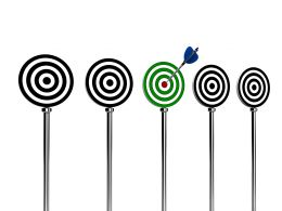 Aiming And Hitting Target Stock Photo