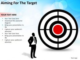 aiming for the target business concept powerpoint diagrams templates