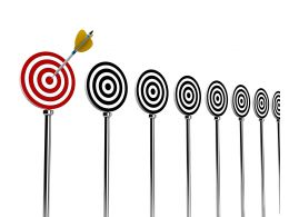 Aiming High Business Targets Stock Photo
