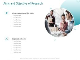 Aims And Objective Of Research Ppt Powerpoint Presentation Professional Layout
