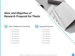 Aims And Objective Of Research Proposal For Thesis Ppt Powerpoint Presentation Model