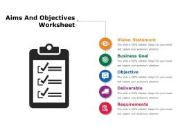 Aims And Objective Worksheet Sample Of Ppt
