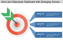 Aims And Objectives Dartboard With Diverging Arrows And Boxes