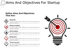 Aims And Objectives For Startup Example Of Ppt Presentation