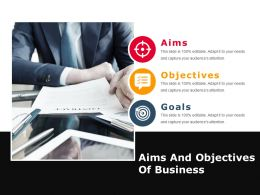 Aims And Objectives Of Business Powerpoint Slide Deck