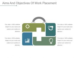Aims And Objectives Of Work Placement Example Ppt Presentation