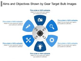 Aims And Objectives Shown By Gear Target Bulb Images